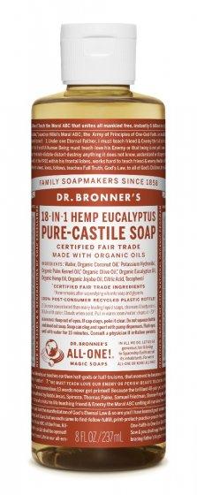 Dr. Bronner flytende eucalyptus 240ml