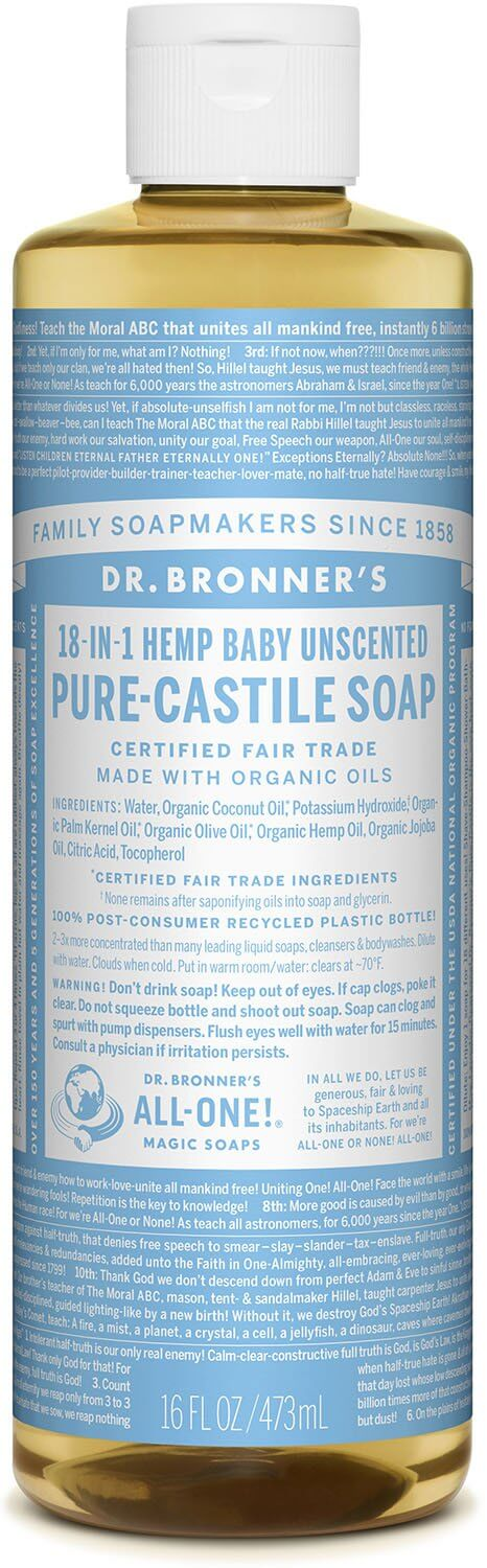 Dr Bronner Neutral­Mild/baby. 475ml