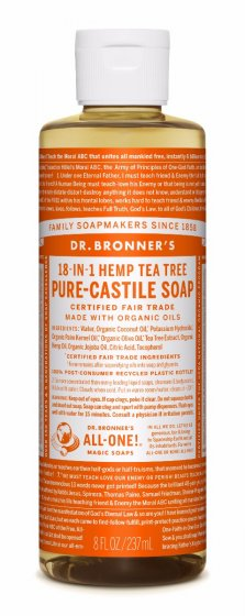 Dr. bronner Tea Tree såpe 240 ml