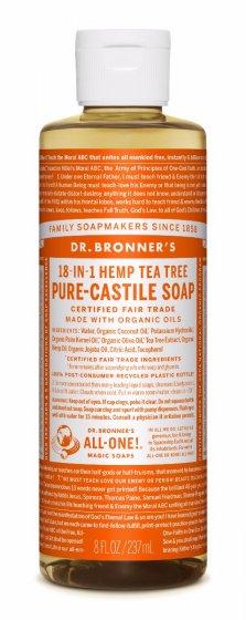 Dr. bronner Tea Tree såpe 240 ml
