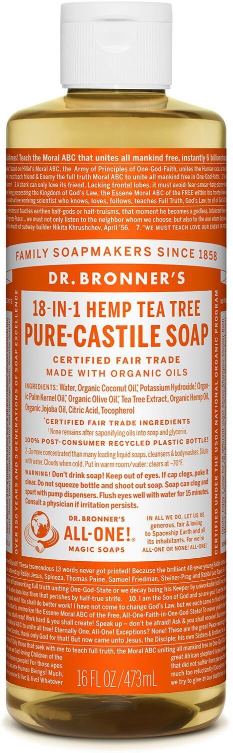 Dr. bronner tea tree såpe 475 ml