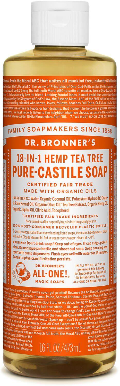 Dr. bronner tea tree såpe 475 ml