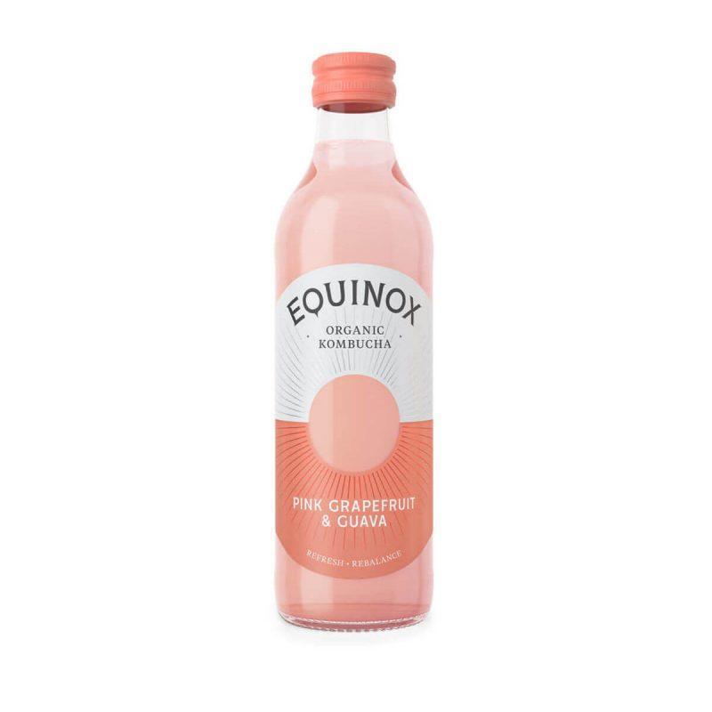 Equinox Kombucha Pink Grapefruit & Guava 275ml