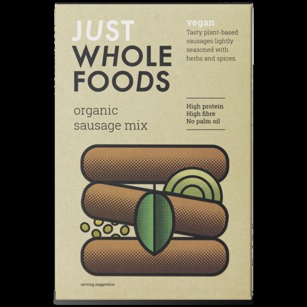 Just Wholefoods Organic Vegetarian Sausage Mix 125g