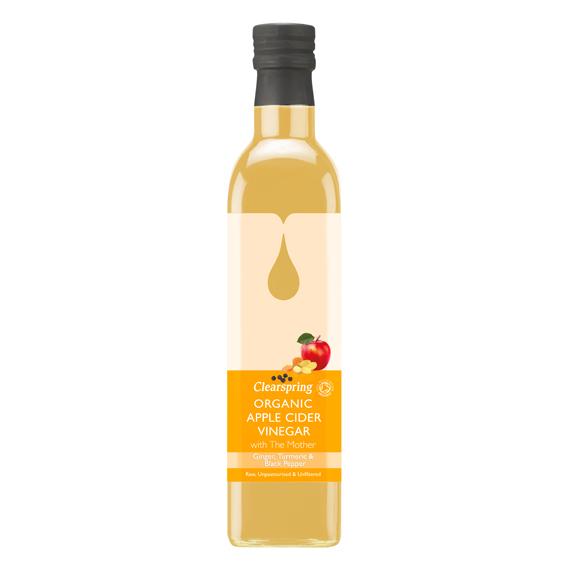 Clearspring Apple Cider Vinegar Ginger,Turmeric & Black Pepper 500 ml