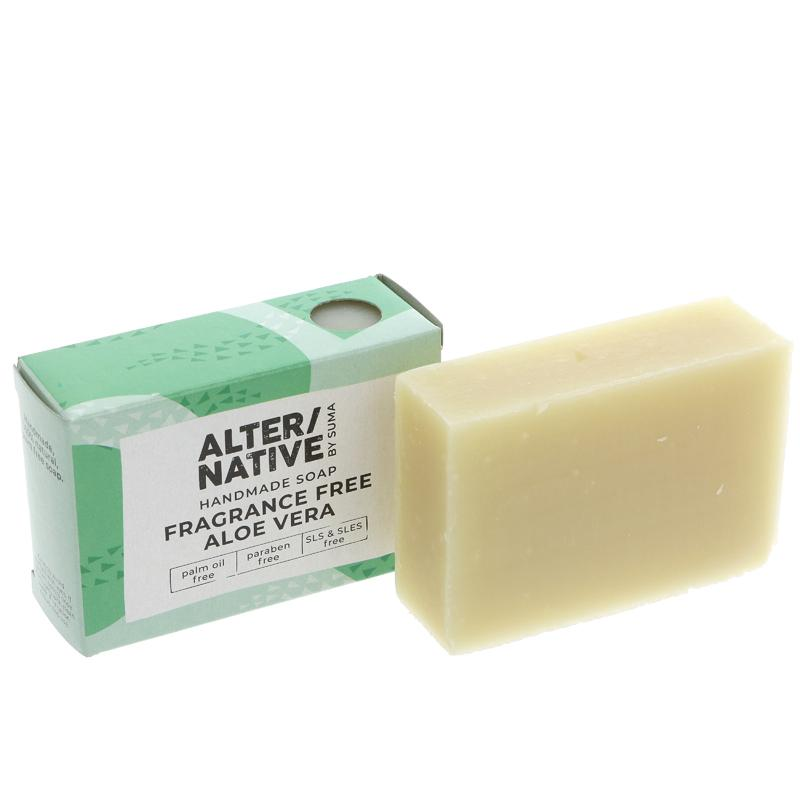 Alter/native By Suma Fragrancefree Aloe Vera Soap Bar - 95g
