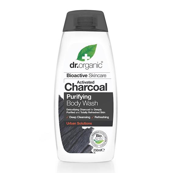 Dr. Organic kroppsvask m/aktivert kull 250ml