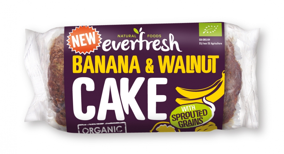 Everfresh Sprouted Grains Banana Walnut Cake 350g