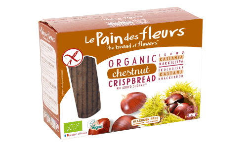 Knekkebrød m/kastanje, glutenfri - Le Pain des fleurs - 150 g