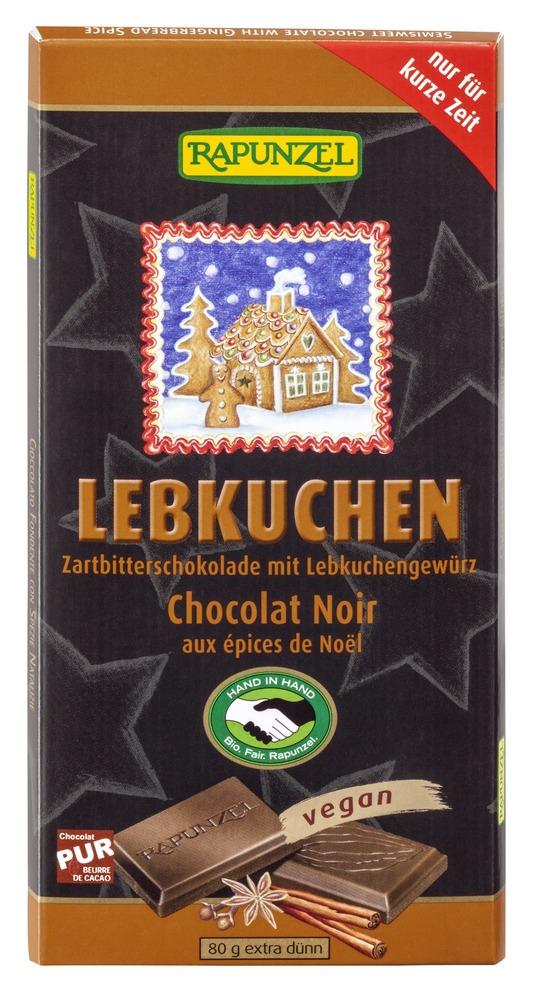 Mørk julesjokolade m/julekrydder, 55%, vegan, 80 g, økologisk, Rapunzel
