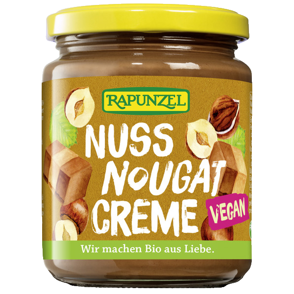 Nugatt smørepålegg, vegan, 250 g, økologisk, Rapunzel