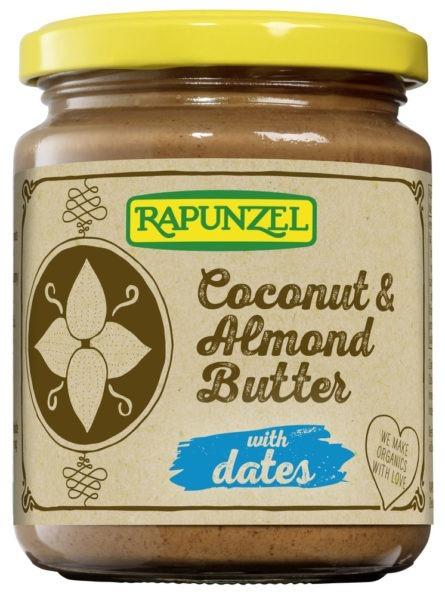 Kokos-Mandelsmør med dadler, 250 g, økologisk, Rapunzel