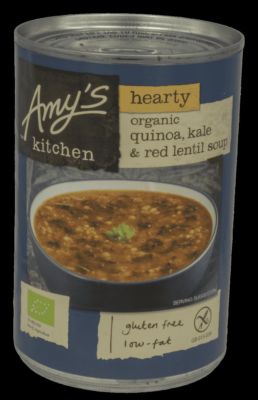 Amys kitchen - quinoa kale & red lentil soup. øko. 408g