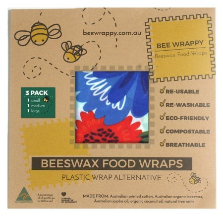 Bee Wrappy bivoksark, 3 stk (s, m, l)