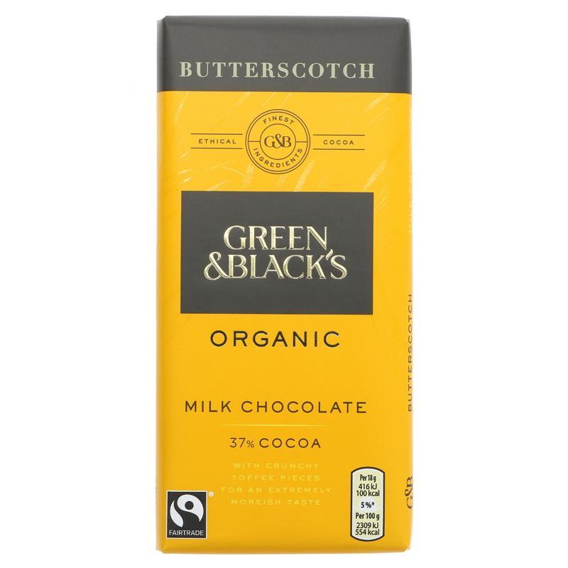 GB Melkesjokolade Butterscotch ØKO 90g
