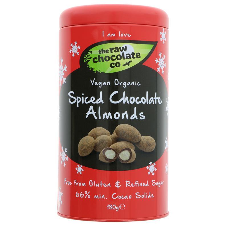 The Raw Chocolate Co Spiced Chocolate Almonds - 180g