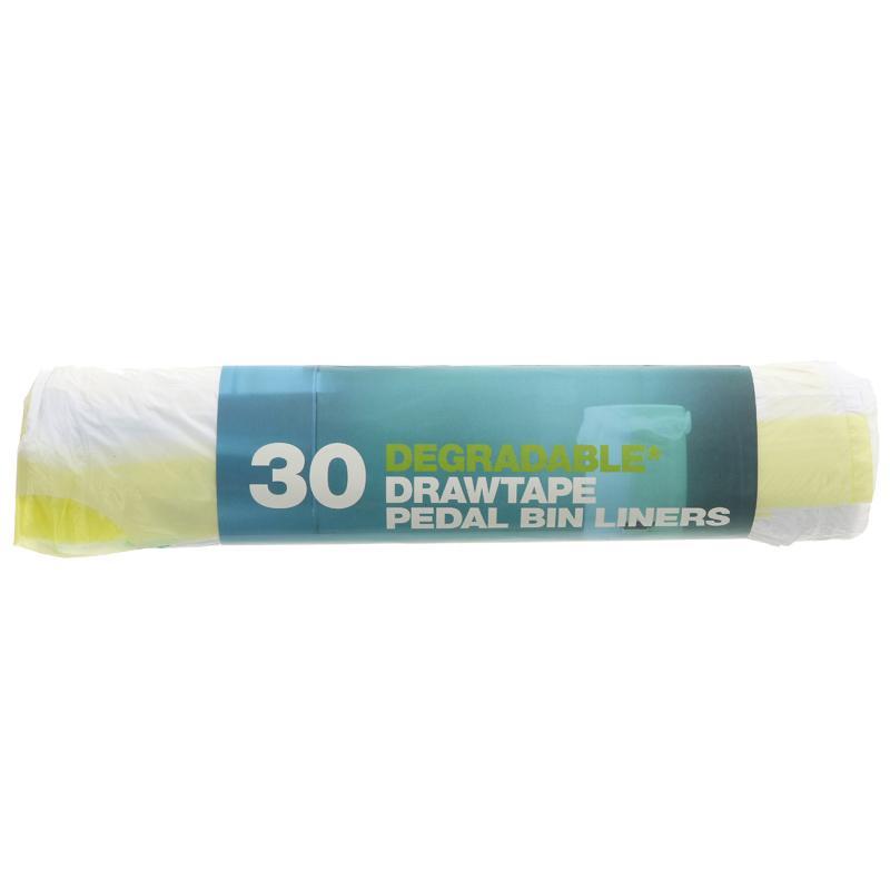D2w Pedal Bin Liners - Drawtape - 30 bags
