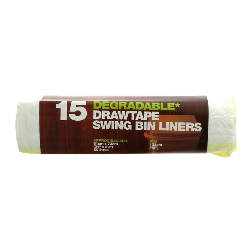 D2w Drawtape Swing Bin Liner - 15 roll