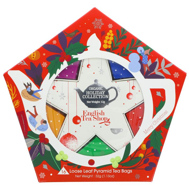 English Tea Shop Red & Silver Star Gift Pack - 16 bags