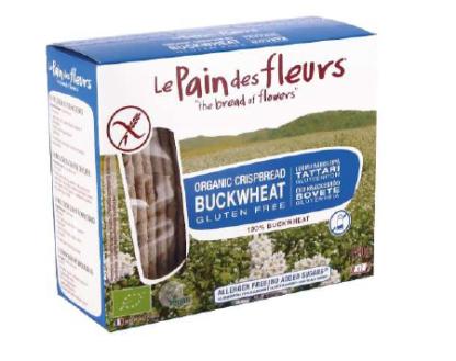 Knekkebrød m/bokhvete, glutenfri, u/sukker og salt, 150 g, økologisk, Le Pain des fleurs