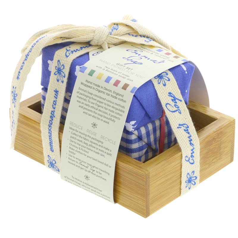 Emma's Soap Bamboo Gift Set - Jojoba - 2 soap