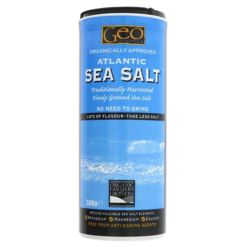 Geo Organics Atlantic Fine Ground Sea Salt - 500g