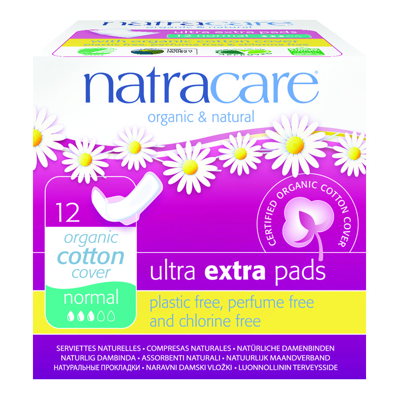 Natracare Ultra extra pads Normal 12 med vinger
