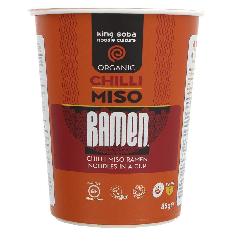 King Soba Organic Chilli Miso Ramen Cup - 85g