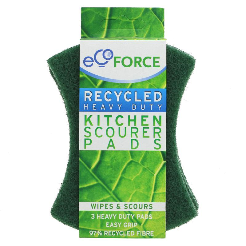 Ecoforce Heavy Duty Kitchen Scourer 3 pack