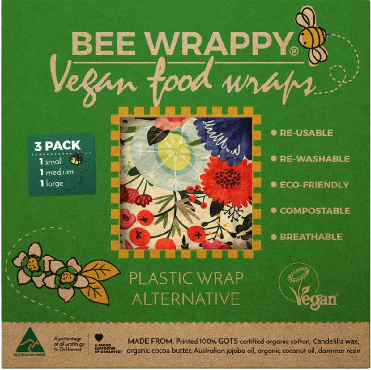 Bee Wrappy veganske voksark, 3 stk (s, m, l)