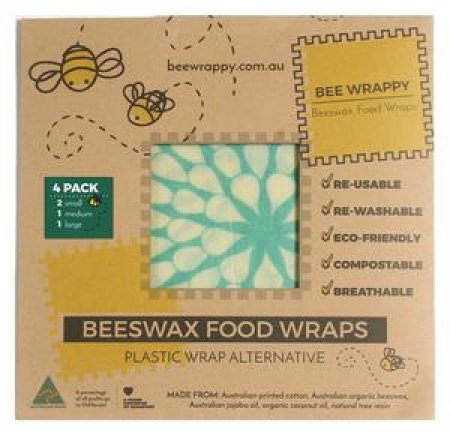 Bee Wrappy bivoksark, 4 stk (s, s, m, l)