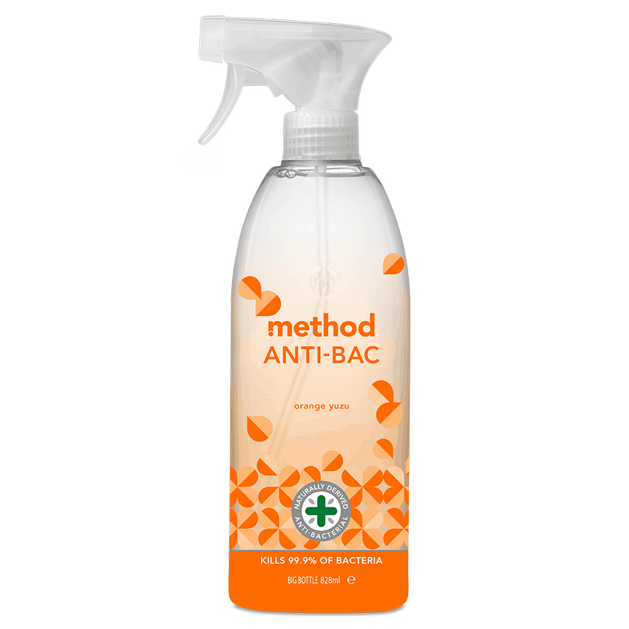 Method Anti Bac Spray - Yuzu Orange - 828ml