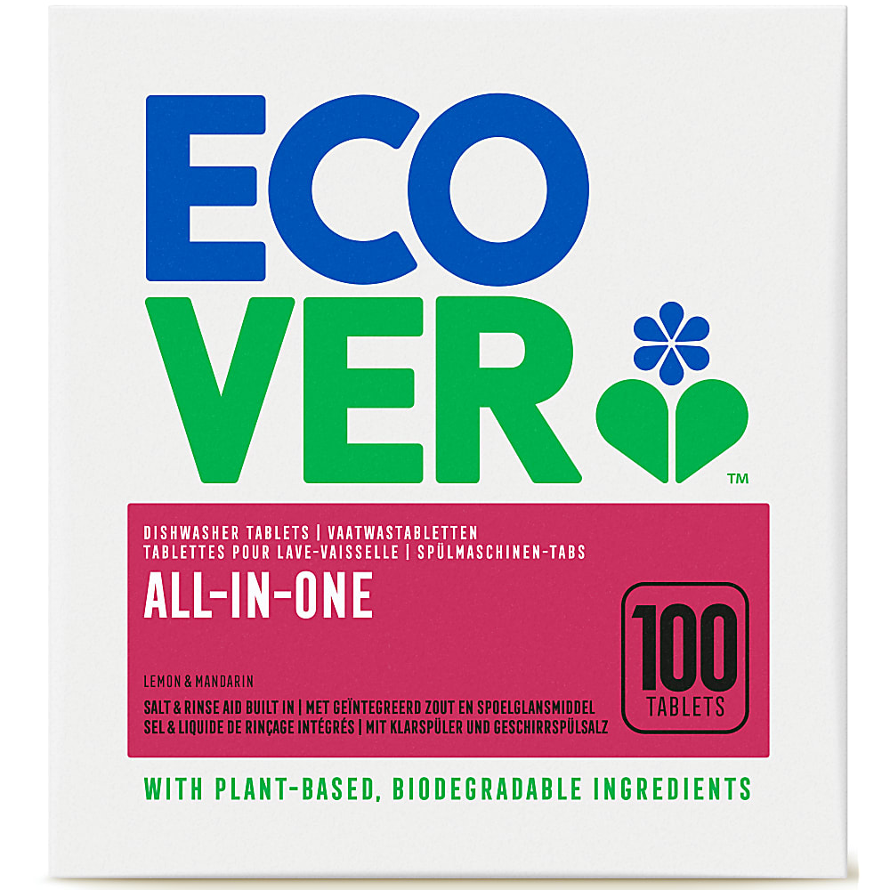 Ecover all-in-one 100 dishwasher tablets