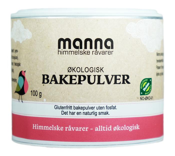 Bakepulver, 100 g, økologisk, Manna