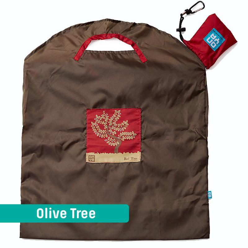 Onya Handlenett Stort Olive Red Tree