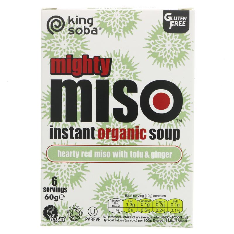 King Soba organic Miso Soup Tofu & Ginger - 60g