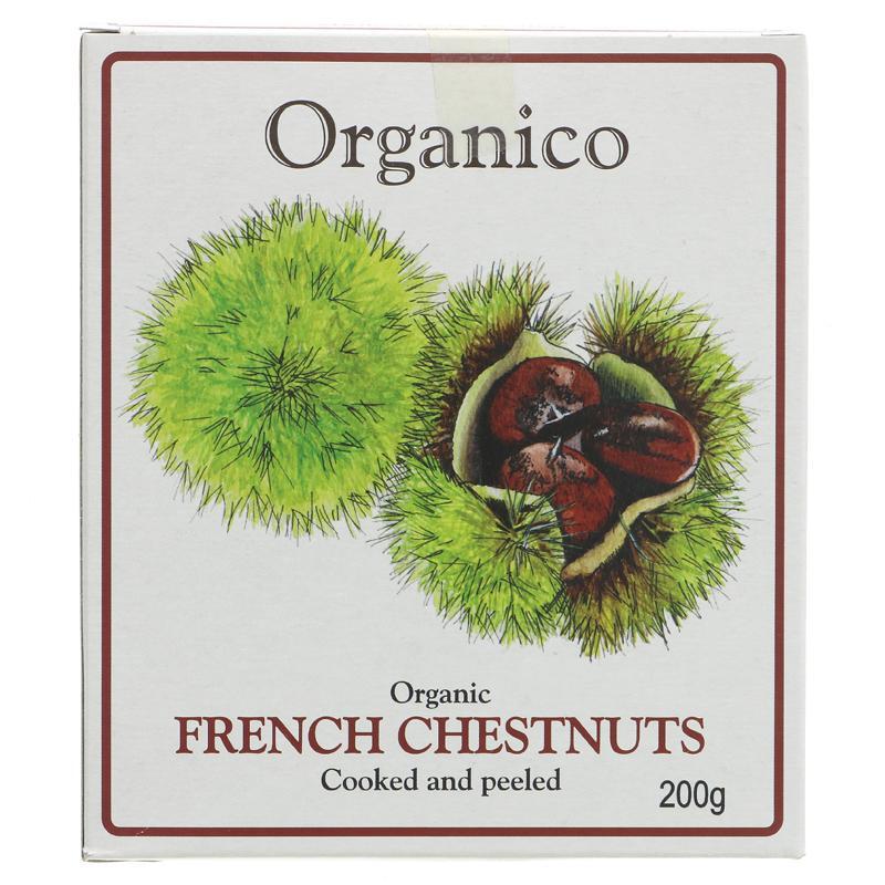Organico French Chestnuts in box - organic - 200g