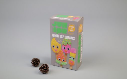 DIY KIT FUNNY ICE CREAMS 4STK