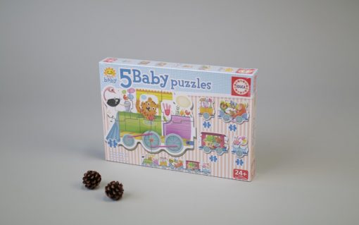 Baby puzzles 5 pcs animal train 24 mth.