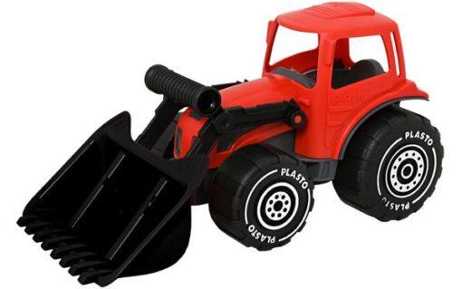 Traktor med frontlaster - Rød