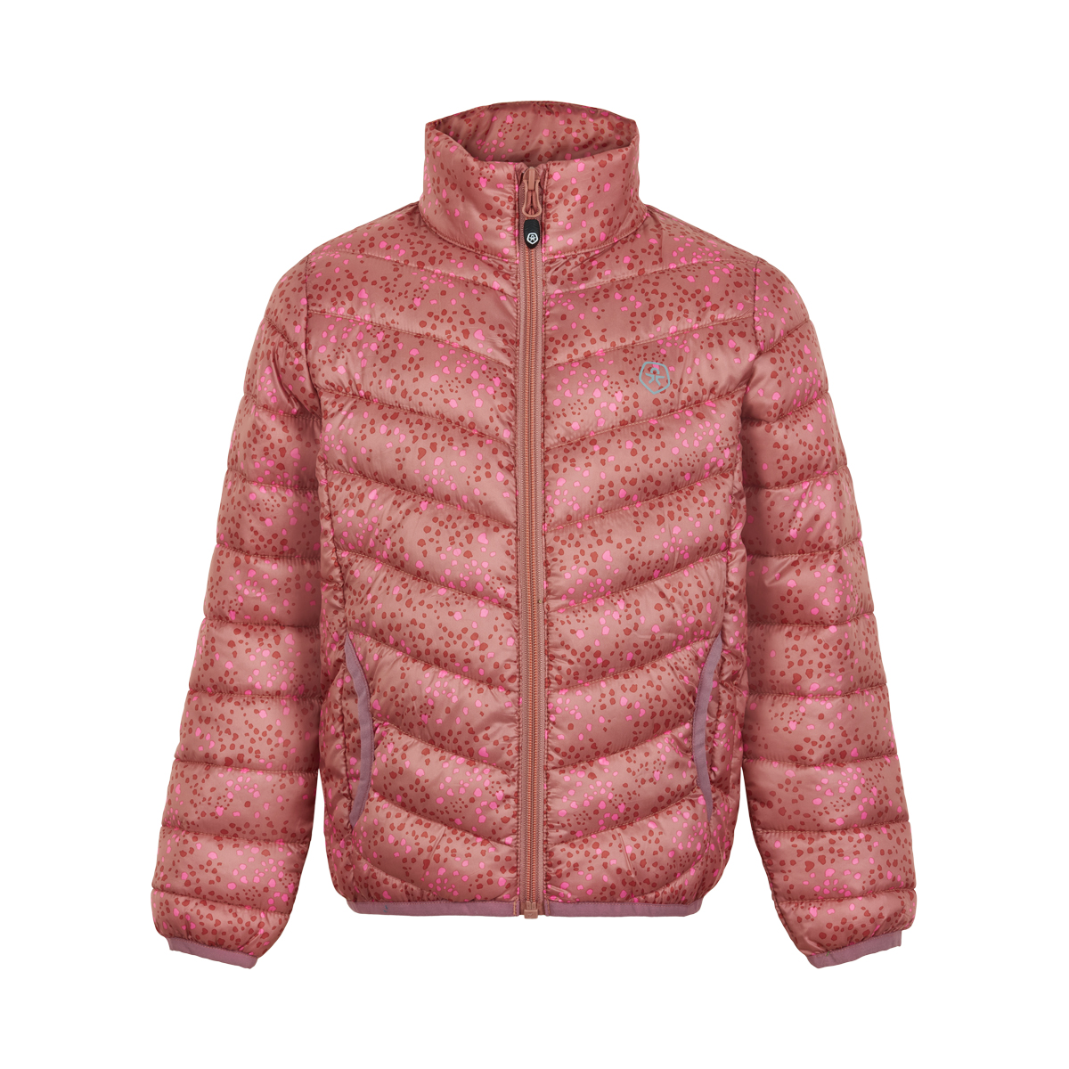 Color Kids Jacket padded packable AOP 1-8 år