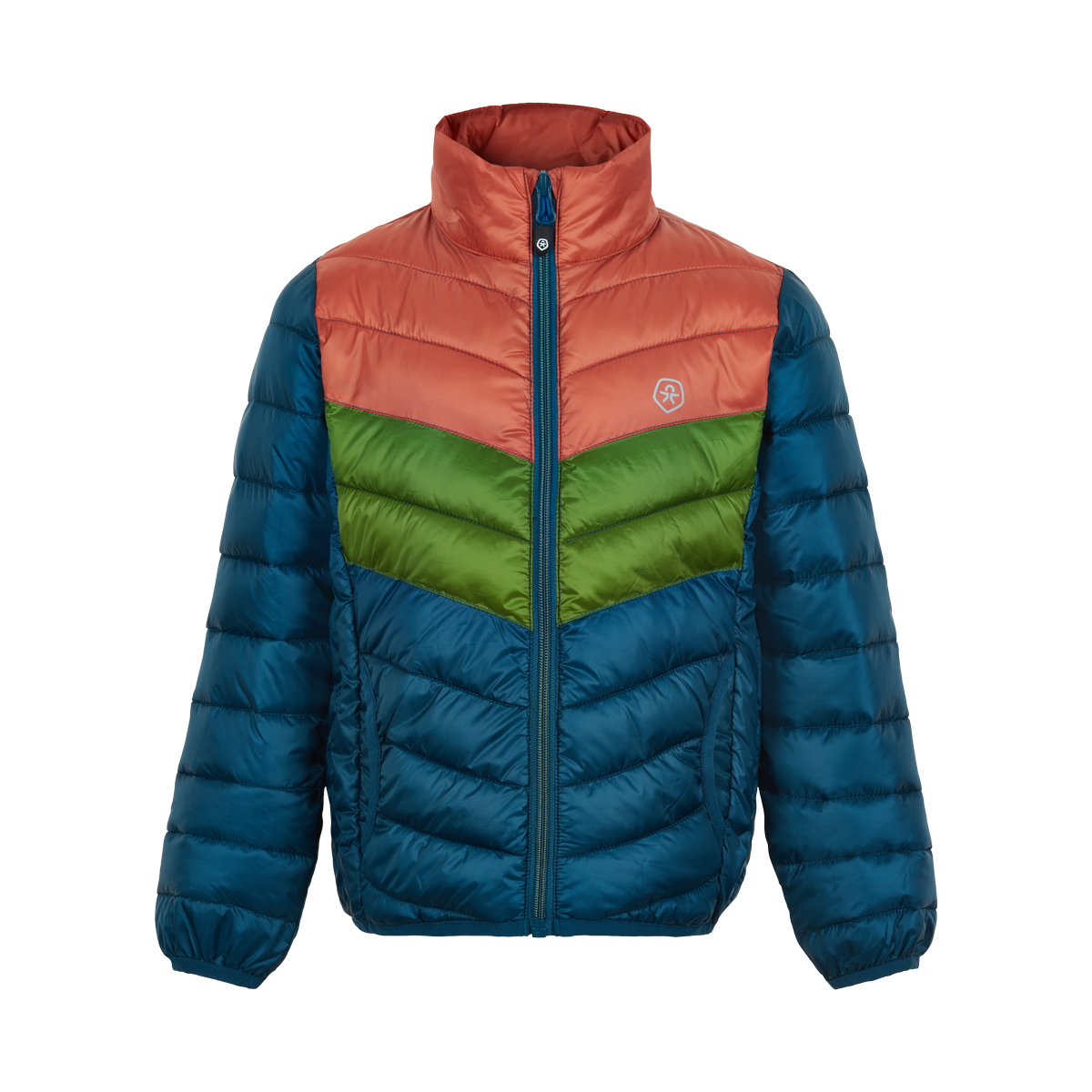 Jacket padded packable 3 col. 2-12 år