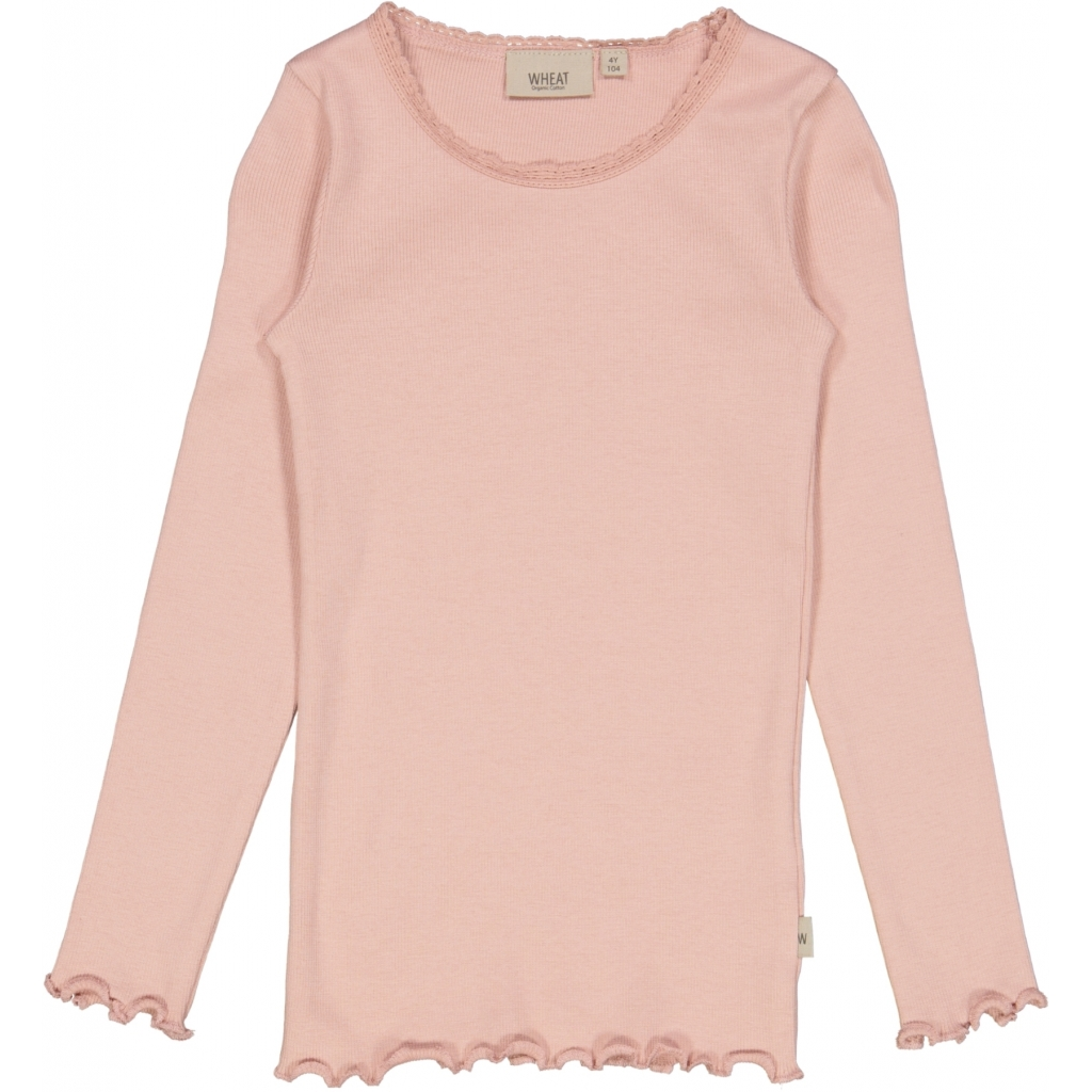 Wheat Rib T-Shirt Lace LS