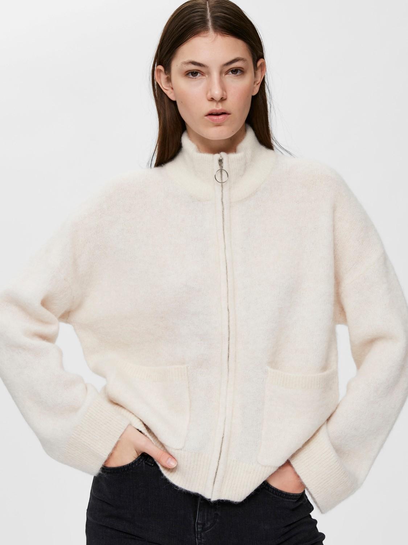 Selected Femme Knit zipper cardigan