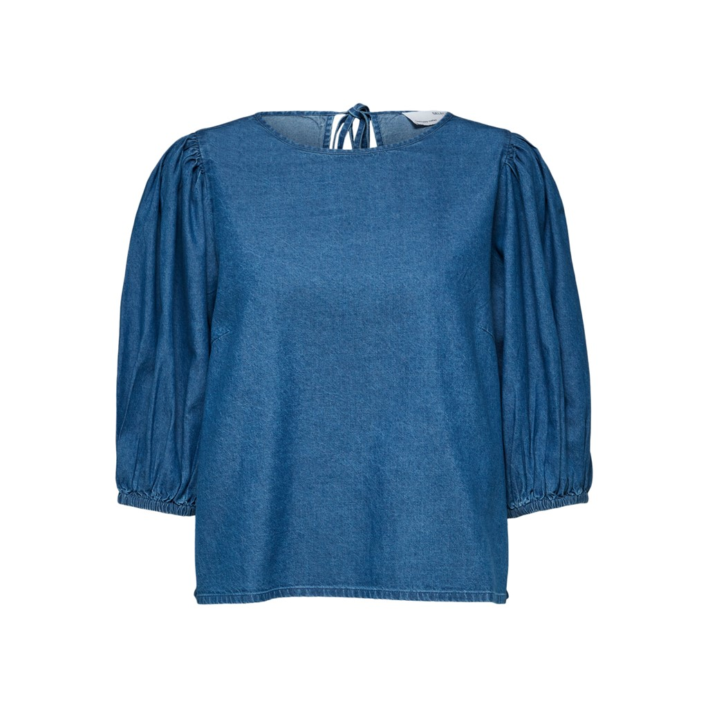 Selected Femme CLARISA PUFF SLEEVE TOP