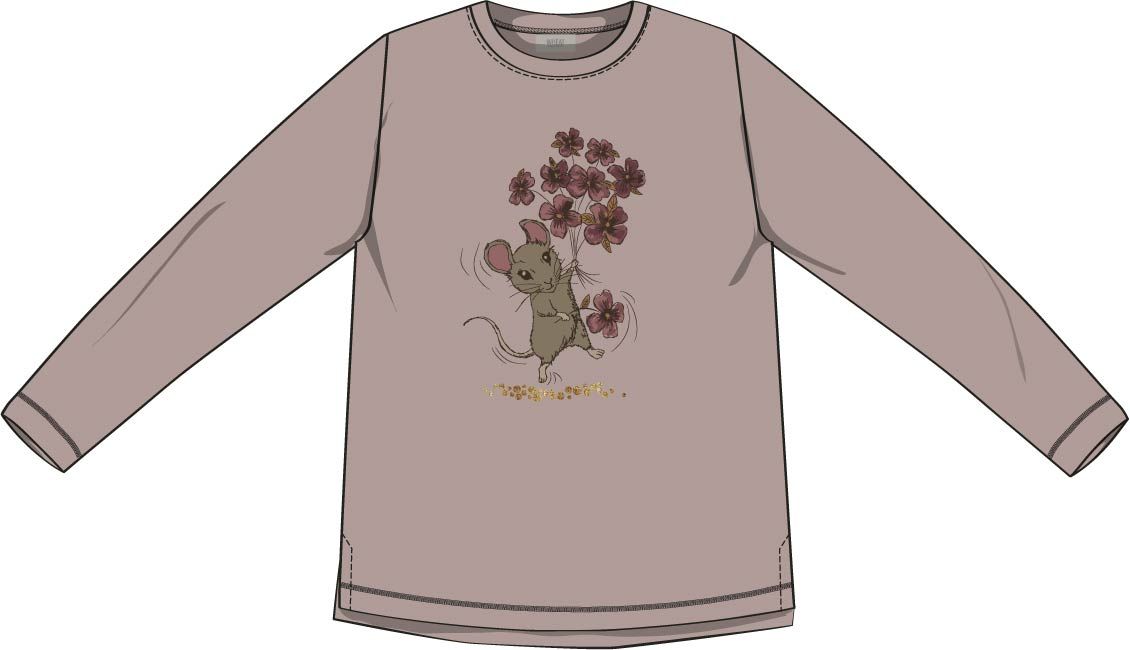 Wheat T-Shirt Flower Mouse