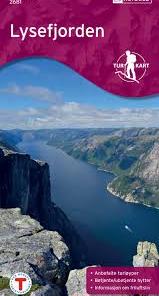 Lysefjorden turkart 1:50 000