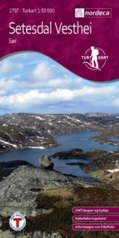 Setesdal Vesthei Sør Turkart 1:50 000