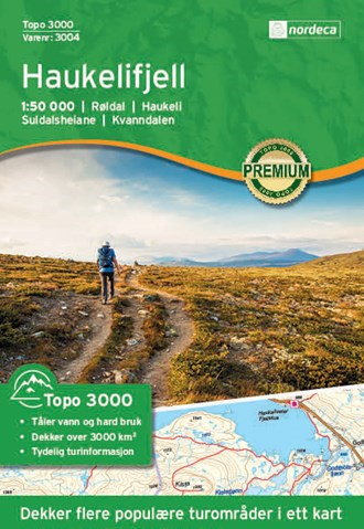 Haukelifjell 1:50 000 Topo 3000