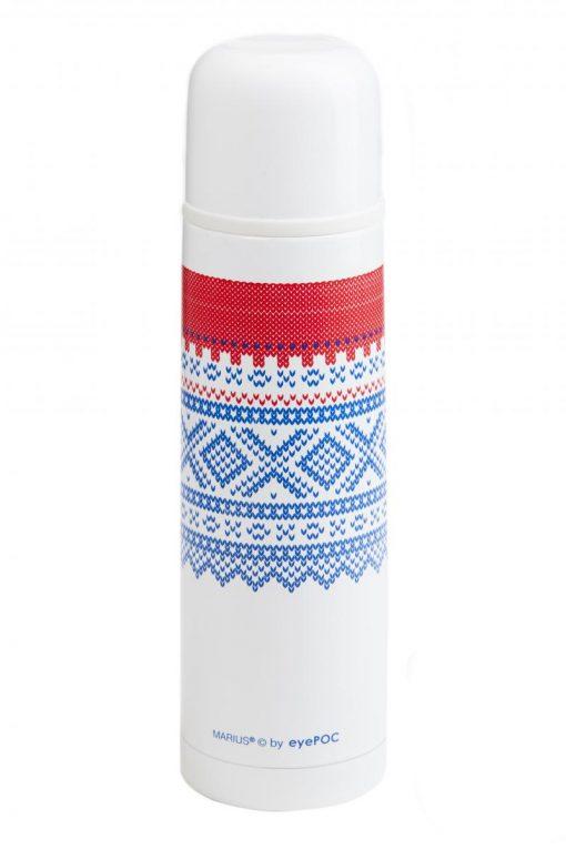 Eyepoc  Termos 1 liter, Mariusmønster- hvit